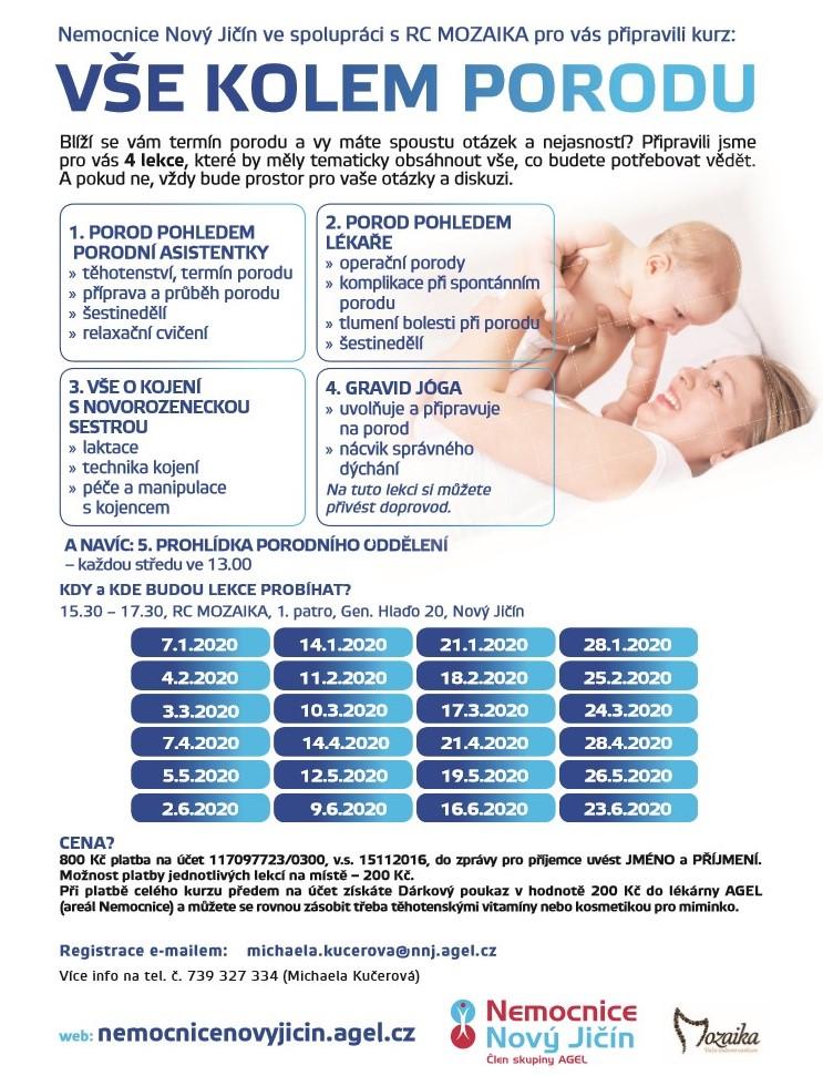 Vše kolem porodu, leták 1. pol. 2020