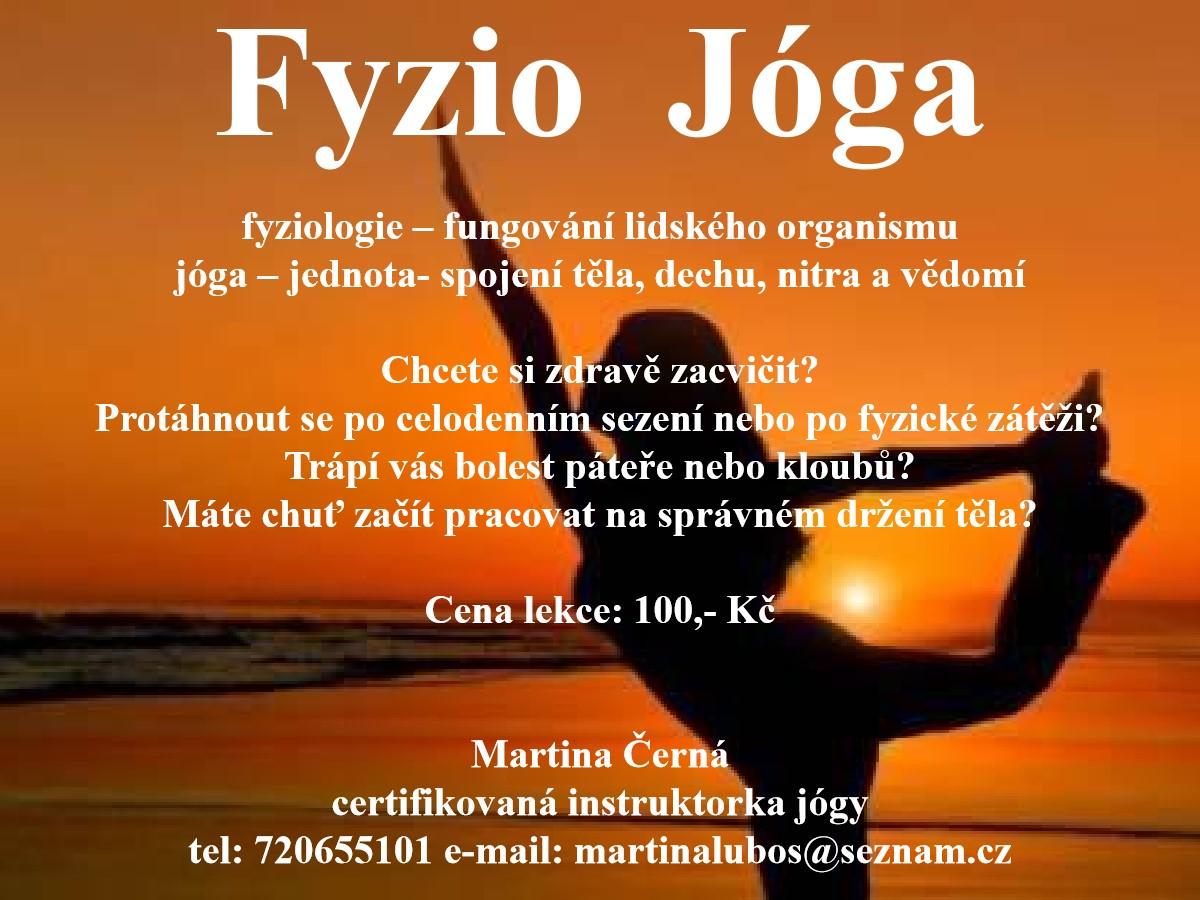 fyzio jóga M. Černá