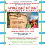 6. pirátské dětské slavnosti v maskách