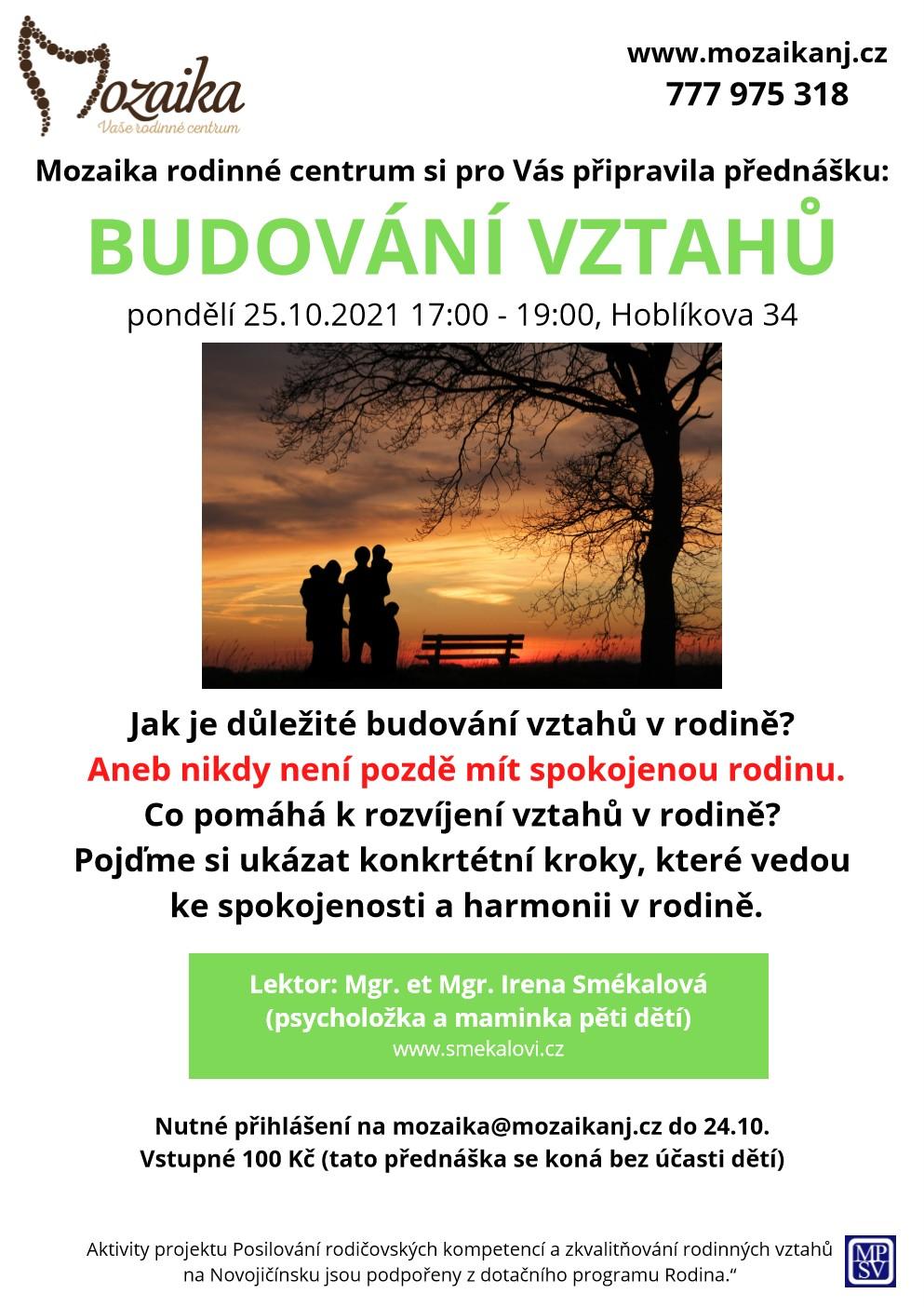 přednáška budování vztahů